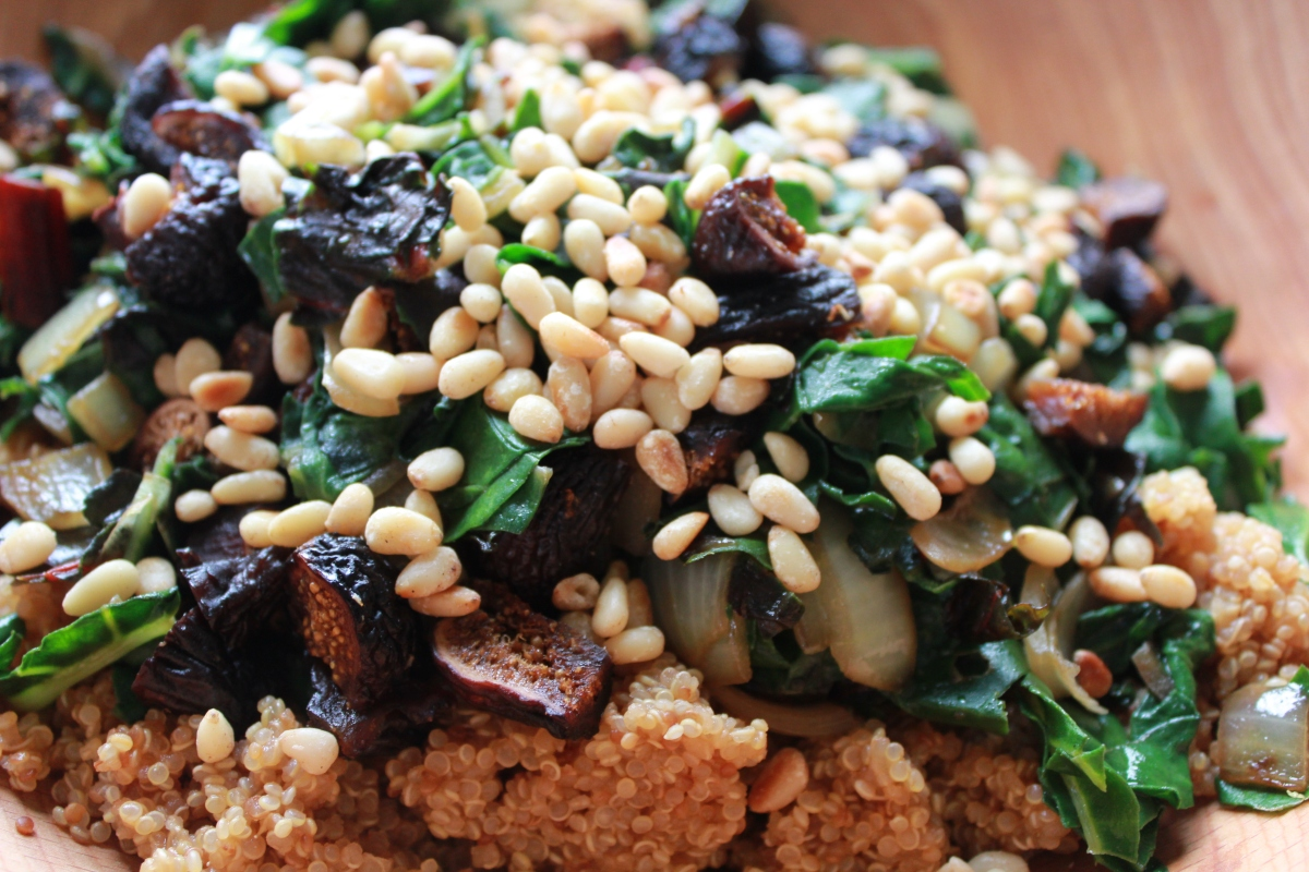 Fig, Pine Nut, and Quinoa Salad