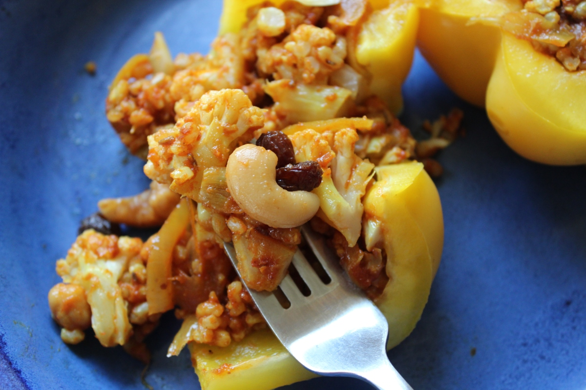 Sweet & Savory Indian Stuffed Peppers