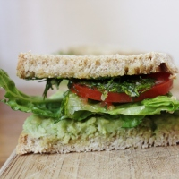 Avocado and Dill Sandwich